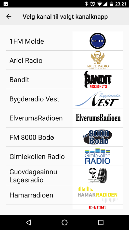 Radio - Alle norske kanaler android free apk