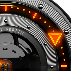 FIRE Laser Analog Clock Widget APK Free